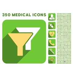 Filters icon and medical longshadow icon set vector