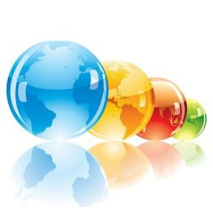 Color globe vector