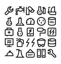Industrial icons 11 vector