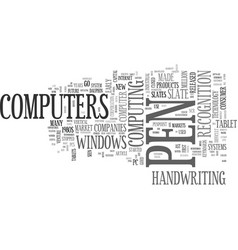 A brief history of tablet pcs text word cloud vector