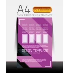 Abstract flyer brochure design vector