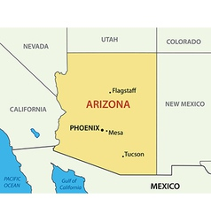 Arizona - map vector image vector image