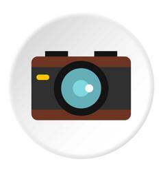 camera icon circle vector image vector image