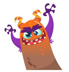 cute cartoon monster dragon vector image