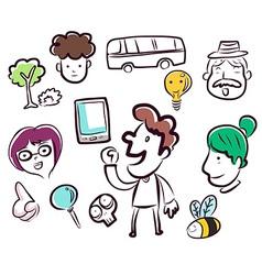 DoodlesManBee vector image
