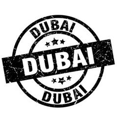 Dubai black round grunge stamp vector