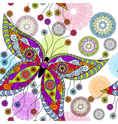 floral spring pattern vector image vector image
