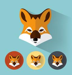 fox portrait with flat design vector image vector image