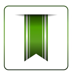 Green bookmark tag label vector image
