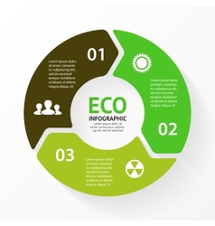 green circle arrows eco infographic vector image vector image