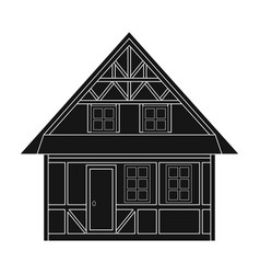 house single icon in black stylehouse vector image vector image