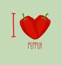 I love pepper Heart of the sweet peppers vector image vector image