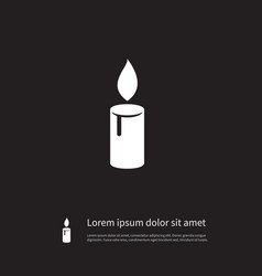 Isolated lightup icon candlelight element vector