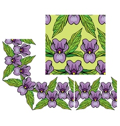 Lilly border 2 380 vector