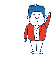 man cartoon standing casual clothes character vector image vector image