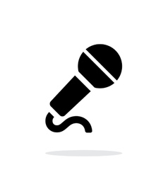 Microphone with cable icon on white background vector image vector image