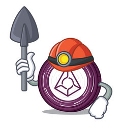 Miner augur coin mascot cartoon vector