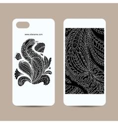 Mobile phone cover design floral mandala vector