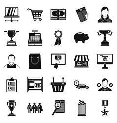 Monetary expenses icons set simple style vector