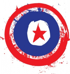 North Korea circle flag vector image vector image