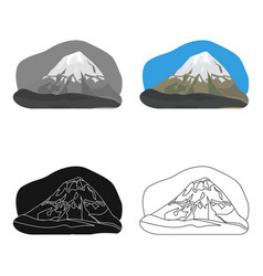 popocatepetl icon in cartoon style isolated on vector image