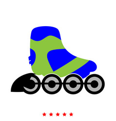 roller skate icon different color vector image vector image