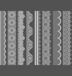 seamless lace ribbon borders vector image