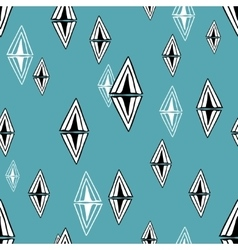 Seamless pattern with design elements vector image vector image