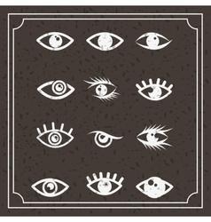 Set eyes design vector
