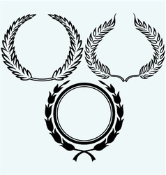 Set laurel wreaths vector