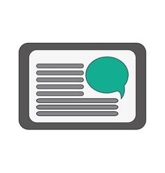 single webpage icon vector image vector image