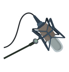 studio microphone icon cartoon style vector image vector image