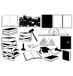 study books vector image