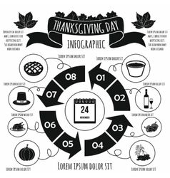 Thanksgiving Day infographic elements vector image vector image