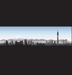 tokyo city skyline view travel japan background vector image vector image