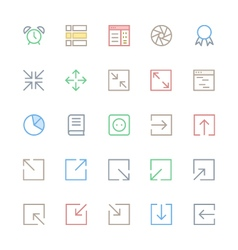 User Interface Colored Line Icons 16 vector image vector image