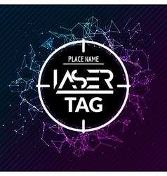 Laser tag target game poster flyer lasertag banner vector image