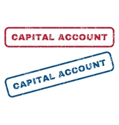 Capital account rubber stamps vector