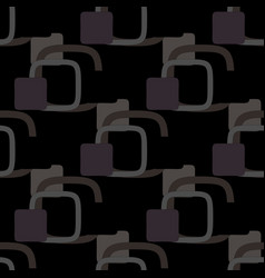 geometric pattern on a black background vector image