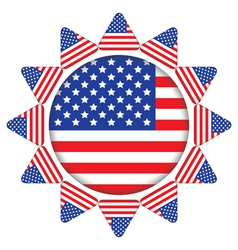 sun made of United States flag vector image