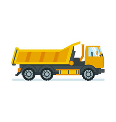 Lorry for transportation of goods and materials vector