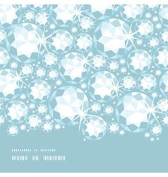 Shiny diamonds horizontal border seamless pattern vector