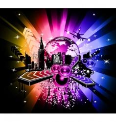 urban scene poster vector image