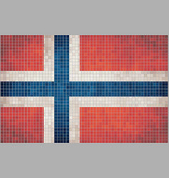 Mosaic flag of norway vector