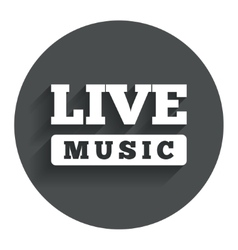 Live music sign icon karaoke symbol vector