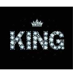 Diamond word king vector