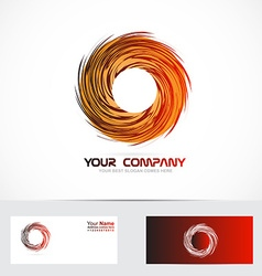 Rotation rotative circle logo vector