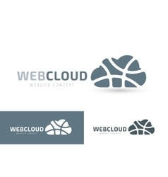 Abstract net cloud logo vector