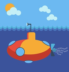 Submarine underwater vector