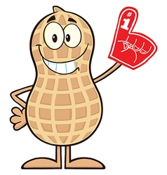 Royalty free rf clipart smiling peanut cartoon vector